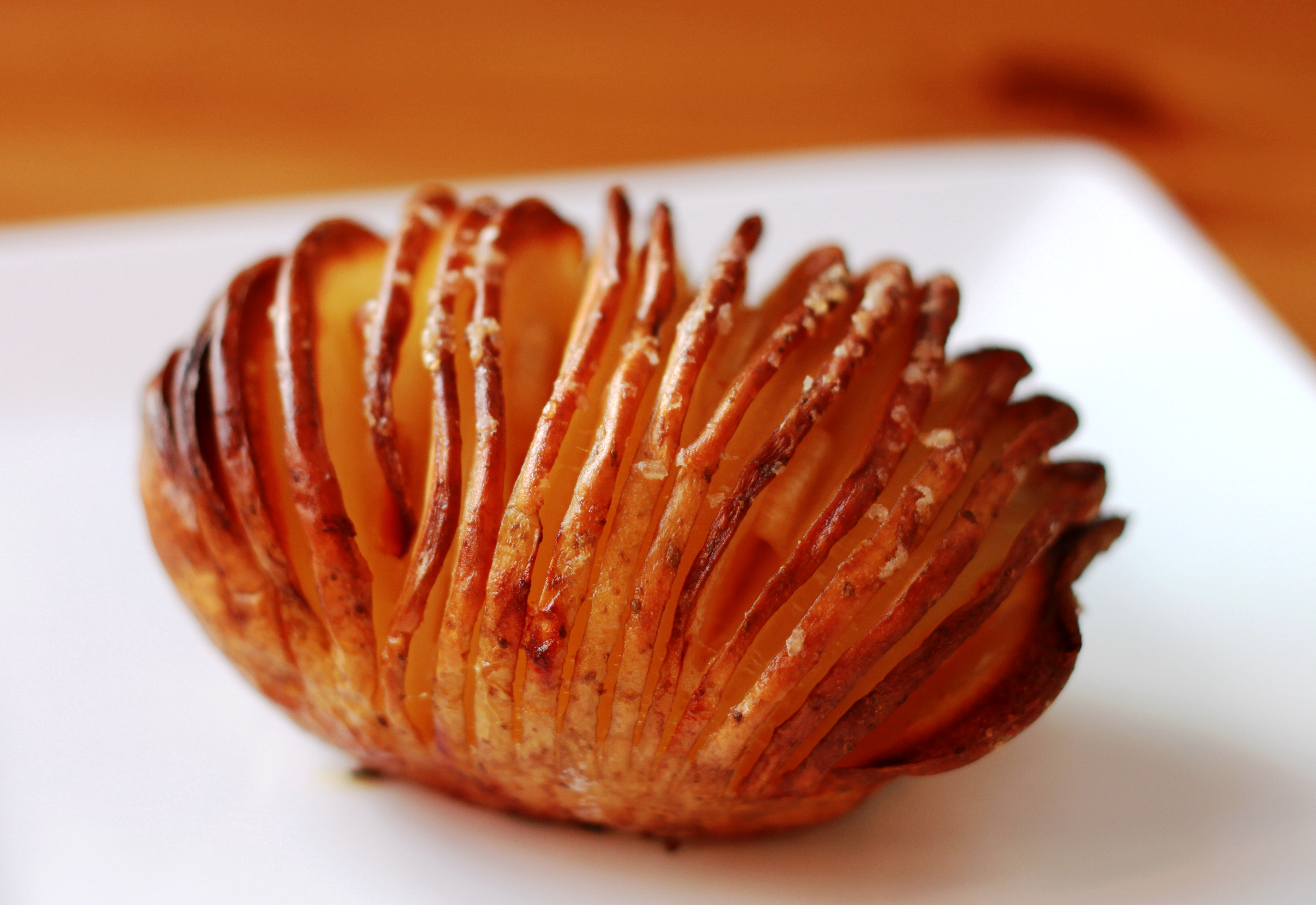 garlicy crispy baked potato fresh from the oven hasselback potatoes ...